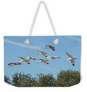 Flock Of White Ibises Weekender Tote Bag