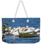 Flock Of White Pelicans Weekender Tote Bag