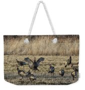 Flock Of Wild Turkeys Weekender Tote Bag