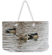 Flocked Weekender Tote Bag