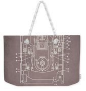 Floppy Disk Assembly Patent Drawing 1a Weekender Tote Bag