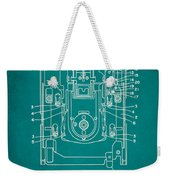 Floppy Disk Assembly Patent Drawing 1c Weekender Tote Bag