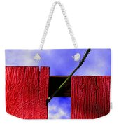 Flora And The Red Fence Weekender Tote Bag
