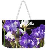 Flora Bota Irises Purple White Iris Flowers 29 Iris Art Prints Baslee Troutman Weekender Tote Bag