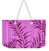 Flora Fauna Tropical Abstract Leaves Painting Magenta Splash By Megan Duncanson Weekender Tote Bag