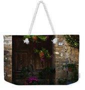 Floral Adorned Doorway Weekender Tote Bag