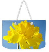 Floral Art Bright Yellow Daffodil Flowers Baslee Troutman Weekender Tote Bag