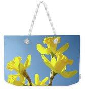 Floral Art Daffodil Flowers Spring Prints Blue Sky Baslee Troutman Weekender Tote Bag