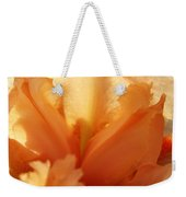 Floral Art Orange Iris Flower Sunlit Baslee Troutman Weekender Tote Bag