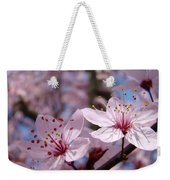 Floral Art Pink Spring Blossoms Prints Blue Sky Baslee Troutman Weekender Tote Bag