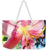 Floral Art Print Pink Summer Lily Flower Lilies Baslee Troutman Weekender Tote Bag