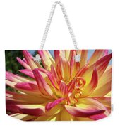 Floral Art Prints Bright Dahlia Flower Canvas Baslee Troutman  Weekender Tote Bag
