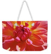 Floral Art Prints Orange Pink Dahlia Flower Baslee Troutman Weekender Tote Bag