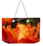 Floral Art Prints Orange Rhodies Rhododendrons Baslee Troutman Weekender Tote Bag