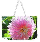Floral Art Prints Pink Dahlias Sunlit Baslee Troutman Weekender Tote Bag