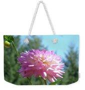 Floral Art Prints Pink White Dahlia Flower Pastel Baslee Troutman Weekender Tote Bag