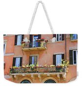 Floral Balcony Weekender Tote Bag