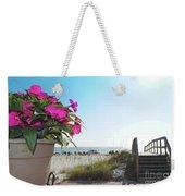 Floral Beach Weekender Tote Bag