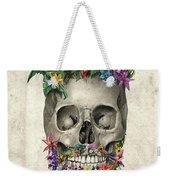 Floral Beard Skull Weekender Tote Bag