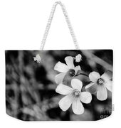 Floral Black And White Weekender Tote Bag