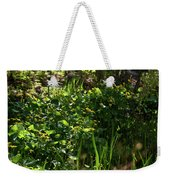 Floral Border Weekender Tote Bag