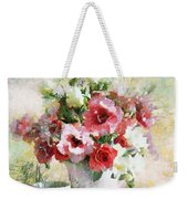 Floral Bouquet Table Setting In Tiny Bubbles Weekender Tote Bag