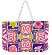 Floral Collage Daffodil Hibiscus Poppy Lily Weekender Tote Bag