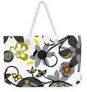 Floral Collision Weekender Tote Bag