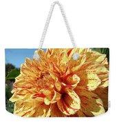 Floral Dahlia Flower Art Print Orange Red Dahlias Baslee Weekender Tote Bag