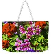 Floral Design 5 Dark Weekender Tote Bag