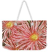 Floral Design No 1 Weekender Tote Bag by Ben and Raisa Gertsberg