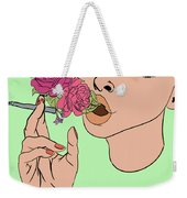 Floral Emission Weekender Tote Bag