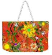 Floral Fantasy 122110 Weekender Tote Bag