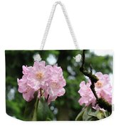 Floral Garden Pink Rhododendron Flowers Baslee Troutman Weekender Tote Bag