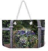 Floral Garden View Weekender Tote Bag