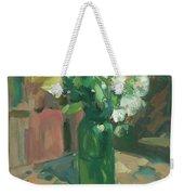 Floral Green Vase Weekender Tote Bag