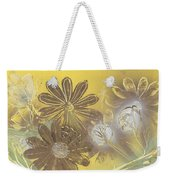 Floral In Gold And Yellow Weekender Tote Bag