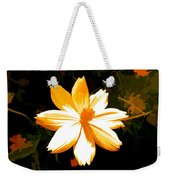 Floral In Yellow Weekender Tote Bag