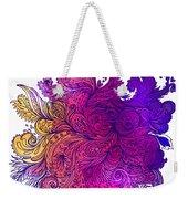 Purple Floral Indian Pattern Weekender Tote Bag
