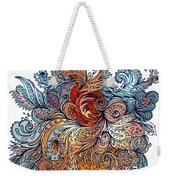 Brown Floral Indian Pattern Weekender Tote Bag