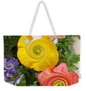 Floral Kaleidoscope Weekender Tote Bag