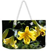 Floral Lilies Art Yellow Lily Flowers Giclee Baslee Troutman Weekender Tote Bag