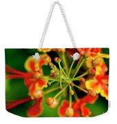 Floral Macro Weekender Tote Bag