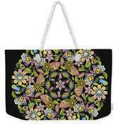 Floral Mandala Pattern Weekender Tote Bag