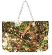 Floral Mantis Weekender Tote Bag
