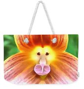 Floral Monkey Pink Yellow And Red Weekender Tote Bag