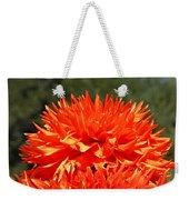 Floral Orange Dahlia Flowers Art Prints Weekender Tote Bag