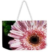 Floral Pink Creative Fragmented In Thick Paint Weekender Tote Bag