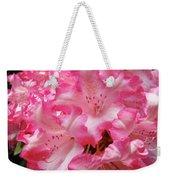Floral Rhodies Flowers Pink White Art Baslee Troutman Weekender Tote Bag