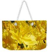 Floral Rhododendrons Garden Art Print Yellow Rhodies Baslee Troutman Weekender Tote Bag